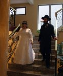 Jewish Wedding Buenos Aires Argentina - the Bride & Groom arrive (Kallah & Chattan)