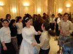 Jewish Wedding Buenos Aires Argentina - Dancing to bring simcha to the bride (kallah)