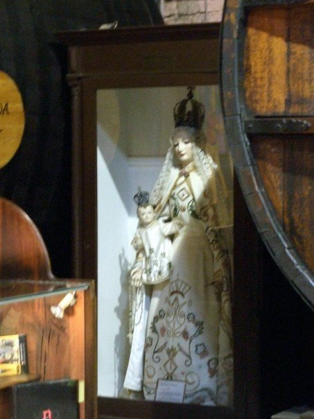 An idol in one of the rooms of a Mendoza, Argentina winery