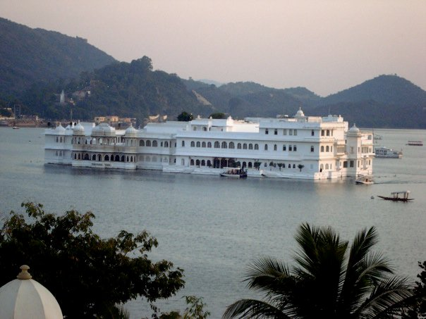 A sunset view of the famous Lake Palace in Udaipur, Rajasthan, India