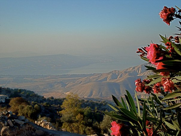 The Kinneret (the Sea of Galilee) as seen from Umm Qais in Jordan