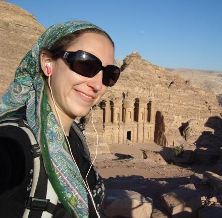 Rebbetzin Rachel at Petra, Jordan