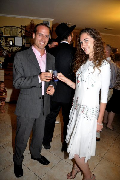 At our l'chaim (engagement party) in Miami Beach, Florida