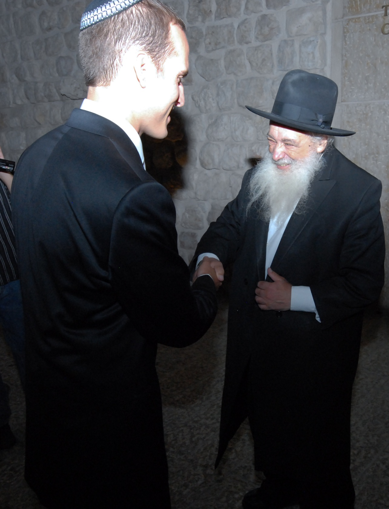 Rabbi Ben meets a tzaddik in the streets of Jerusalem, Israel, where good role models are everywhere